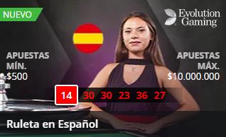 Ruleta en español