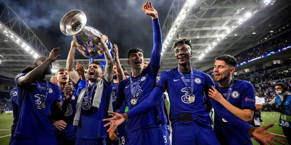Chelsea celebrando su título