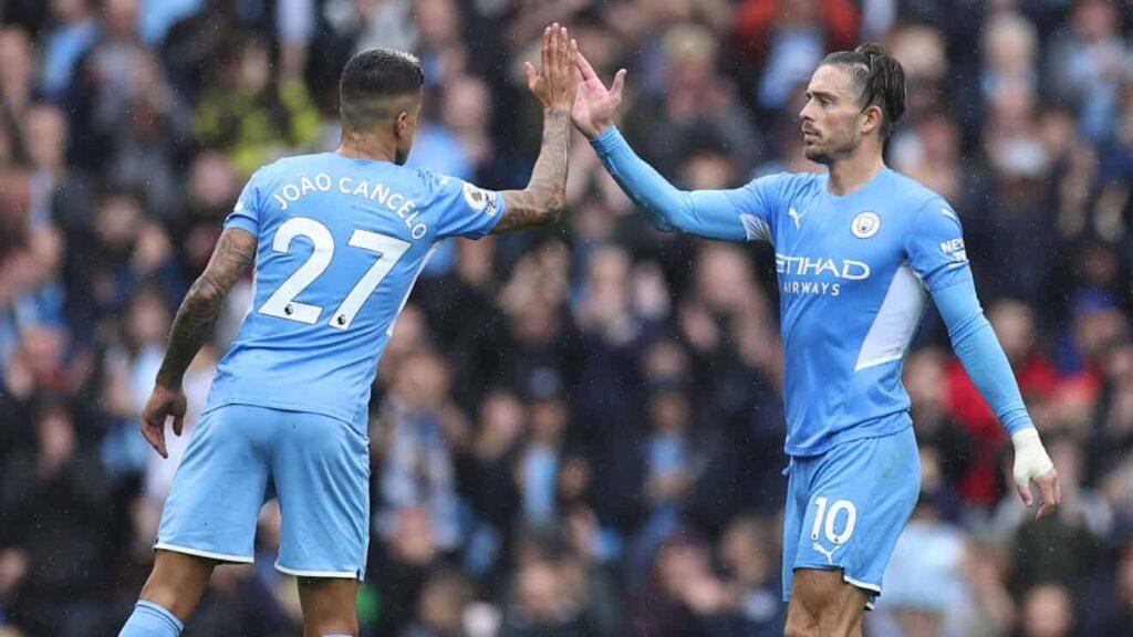 Manchester City celebrando